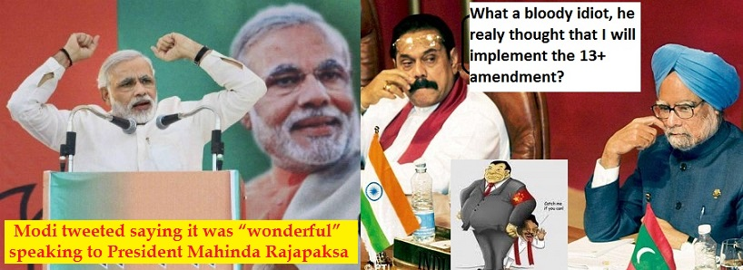 Can The Rajapaksha fool Modi like he did with Sonia Ganthi?