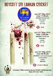 Boycott SriLankan Cricket 31st May @ Lords