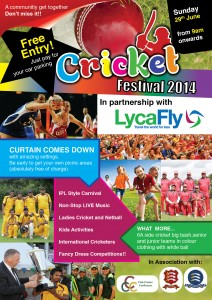 Cricket Festival 2014 - Front Page