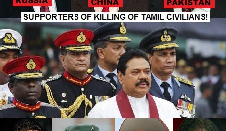 Supporters of killing of Tamil Civilians