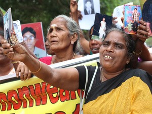 Tamils protest in Sri Lanka