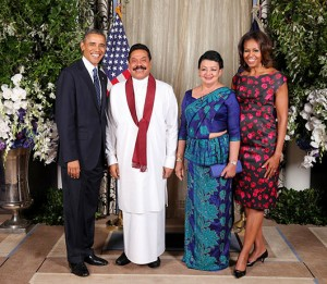 sri-lanka-president-with-us-president-barack-obama
