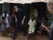 David Cameron in Jaffna camp