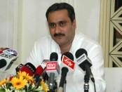 The Union Minister for Health & Family Welfare, Dr. Anbumani Ramadoss briefing the media after his meeting with the Health Ministers of Polio affected states Delhi, UP, Bihar, Uttaranchal, Jharkhand, MP, Haryana and Maharashtra, in New Delhi on September 21, 2006.