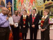 Local Input~ The Premier of Ontario Kathleen Wynne shown in this photo alongside Nehru Gunaratnam, former spokesman for the World Tamil Movement, along with city councillor Michelle Berardinetti and MPP Lorenzo Berardinetti at an event at the Kanthasamy Hindu Temple.   Credit: Premier of Ontario/Facebook ORG XMIT: POS1401211428450959 ORG XMIT: POS1511221315233119