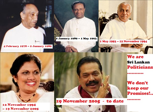 PRESIDENTS OF SRI LANKA