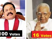 Ranil Mahinda votes