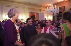 Tonight 10 Downing Street celebrated Daiwali. The Prime Minister Spoke with Indian entrepreneurs, before being taking part in a traditional Daiwali ceremony. The Prime Minister then made a speech. Daiwali is a festival of lights and is a gazetted holiday in India. Followers of Buddhism, Hinduism, Jainism and Sikhism observe various customs related to Diwali.