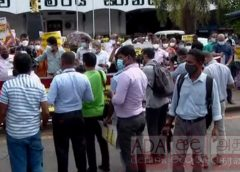 Heavy traffic in Colombo Fort due to protest march